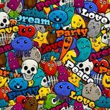 Graffiti Characters Seamless Pattern Royalty Free Stock Photos