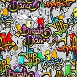Graffiti characters seamless pattern Stock Photography