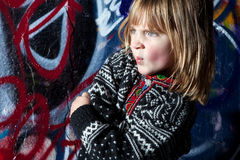 Graffiti child cool street art Stock Photo