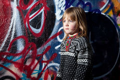 Graffiti child cool street art Royalty Free Stock Images