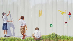 Graffiti children drawing Stock Image