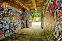 Graffiti of Christiania Royalty Free Stock Photography