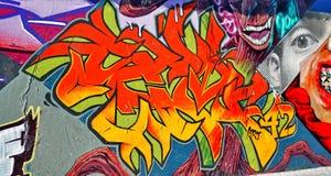 Graffiti ściana Zdjęcia Royalty Free