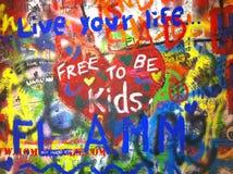 Graffiti ściana Zdjęcie Stock