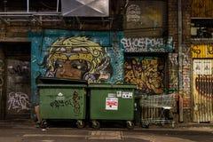 Graffiti ściana Fotografia Royalty Free