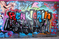 Graffiti ściana Fotografia Stock