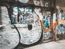 Graffiti ściana zdjęcia stock