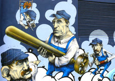 Graffiti Ścienna Miastowa sztuka Fotografia Royalty Free