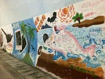 Graffiti in Cina Immagini Stock