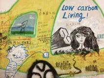 Graffiti in Cina Fotografie Stock Libere da Diritti