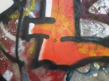 Graffiti. Close-up view of a colorful graffiti royalty free stock photography