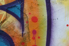 Graffiti. Close-up view of a colorful graffiti Stock Photography