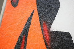 Graffiti closeup detail. Closeup detail of colorful graffiti in the city royalty free stock photography