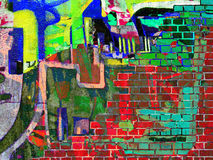 Graffiti. Collage Stock Foto