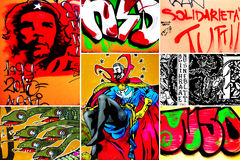 Graffiti Collage Royalty Free Stock Photo