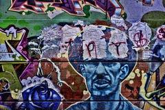 Graffiti coloré de rue Photographie stock