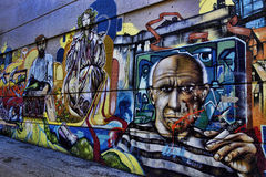 Graffiti coloré de rue Photos stock