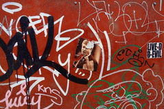 Graffiti coloré de rue image stock