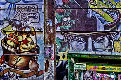 Graffiti coloré de rue photographie stock