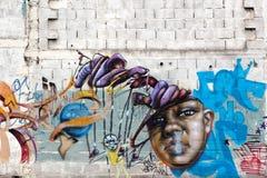 Graffiti coloré, Rosario, Argentine Images libres de droits