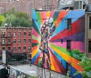 Graffiti colorati di una coppia Immagine Stock Libera da Diritti