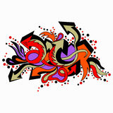 Graffiti colored arrows on a white background Royalty Free Stock Photo