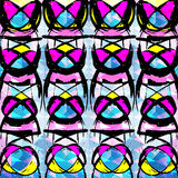 Graffiti colored geometrical objects vector illustration. (vector eps 10 royalty free illustration