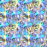 Graffiti colorful background seamless pattern. Graffiti hand style doodles street art illustration Royalty Free Stock Photos