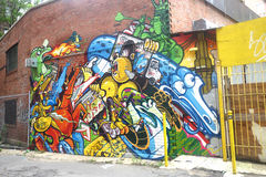 Graffiti in New York City Royalty Free Stock Images