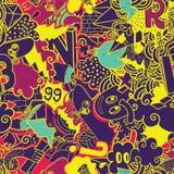 Graffiti colorful seamless pattern Royalty Free Stock Photos