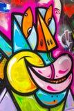 Graffiti. Colorful Graffiti statement on wall Stock Images