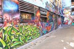 Graffiti Street art Melbourne Stock Photography