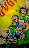 Graffiti. Colourful graffiti at the climbing wall Royalty Free Stock Photography