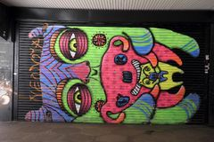 Graffiti Colourful in Croydon, Regno Unito Fotografia Stock Libera da Diritti