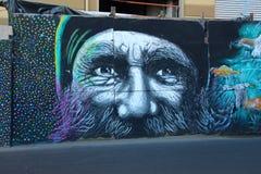 Graffiti Colourful Valparaiso della via nel Cile immagine stock