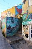 Graffiti Colourful Valparaiso della via nel Cile immagine stock libera da diritti