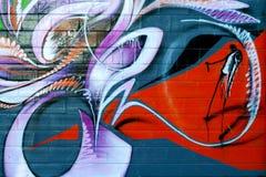 Graffiti, composizione variopinta astratta fotografia stock