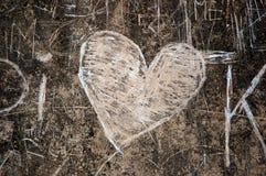 Graffiti con cuore Fotografie Stock Libere da Diritti