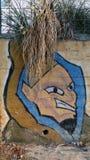 Graffiti con i capelli dell'erba Fotografia Stock Libera da Diritti