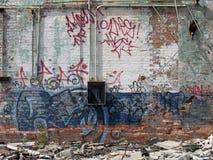 Graffiti Covered Stock Photo