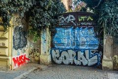 Graffiti covered doors in Prague Royalty Free Stock Photos