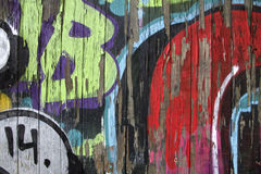 Graffiti covered wall Royalty Free Stock Images
