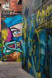 Graffiti in Croft Lane in Melbourne Stock Photo