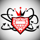 Graffiti Crown and Shield Stock Image