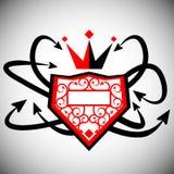 Graffiti Crown and Shield Stock Image