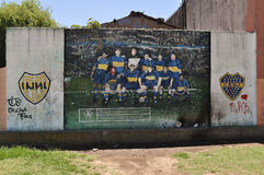 Graffiti d'équipe de Boca Juniors à la La Boca Photo libre de droits
