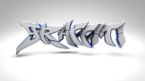 graffiti 3D Fotografia Stock Libera da Diritti