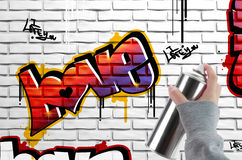 Graffiti d'amour Image stock