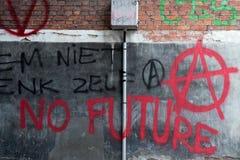 Graffiti d'anarchie Photos stock