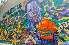 Graffiti d'art dans 798 la rue, Pékin le 25 mai 2013. Image libre de droits